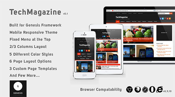 TechMagazine – Mobile Responsive Genesis 2 Child Theme