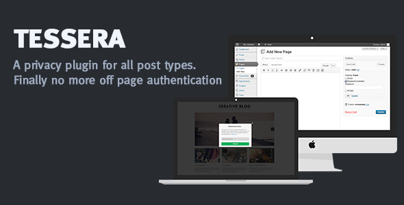 Tessera - a privacy plugin for all post types