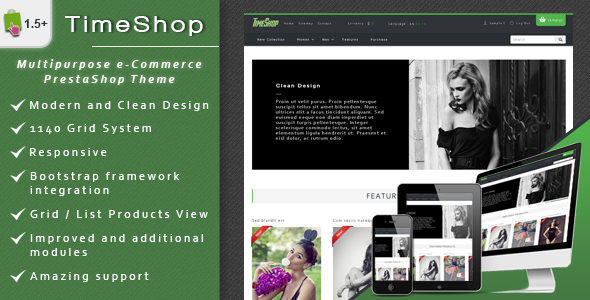 TimeShop - eCommerce PrestaShop Theme