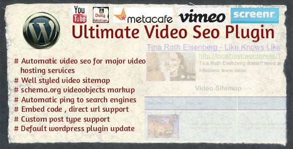 Ultimate Video SEO plugin