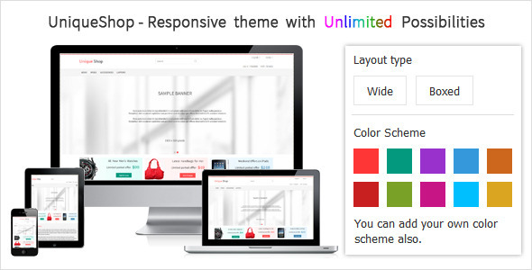 UniqueShop - Responsive Prestashop Theme