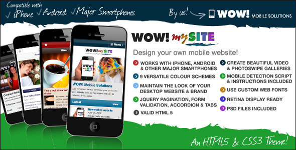 WOW-mySite HTML5-CSS3 mobile theme