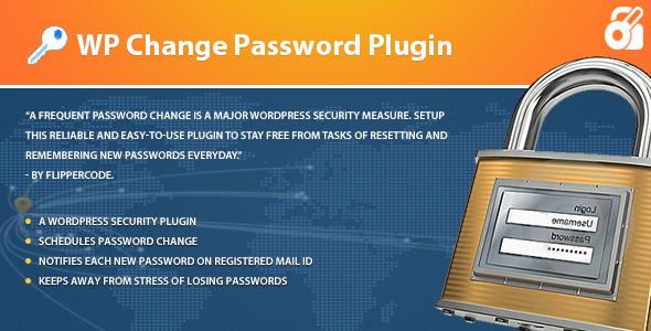WP Change Password Plugin