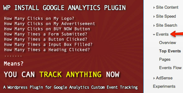 WP Install Google Analytics Plugin