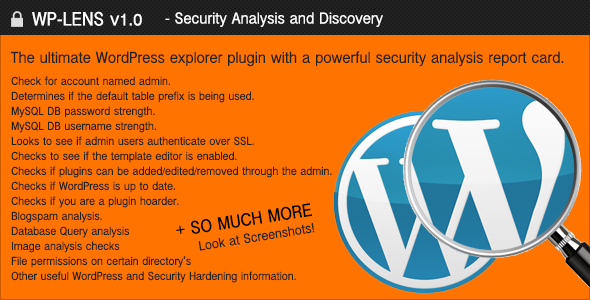 WP-Lens - Security and Analysis