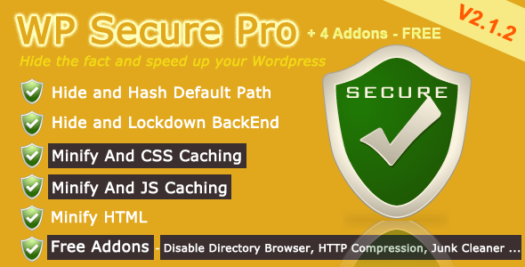 WP Secure - Hide The Fact And Speed Up Your Site