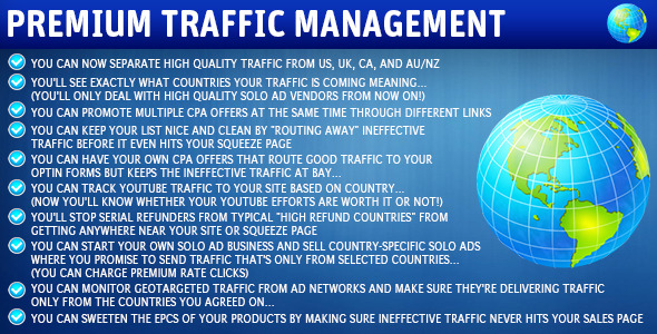 Wordpress Premium Traffic Management Plugin