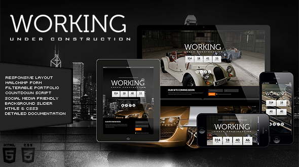 Working – Responsive Under Construction Template