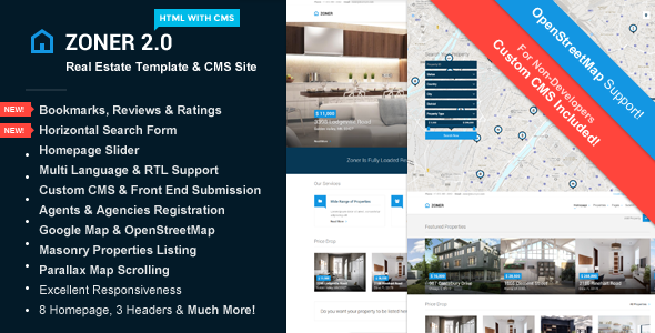 Zoner - Real Estate Template with Custom CMS