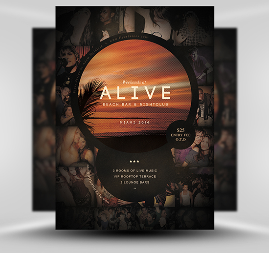 alive-bar-flyer-template