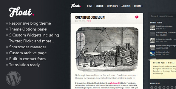 float-responsive-blog-theme