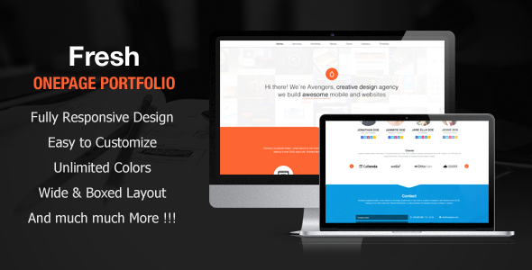 fresh-portfolio-onepage-multipurpose-theme
