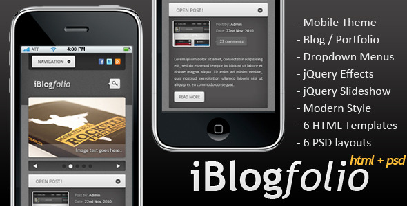 iBlogfolio HTML-PSD