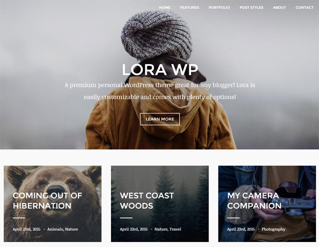 lora-responsive-wordpress-blog-portfolio-theme
