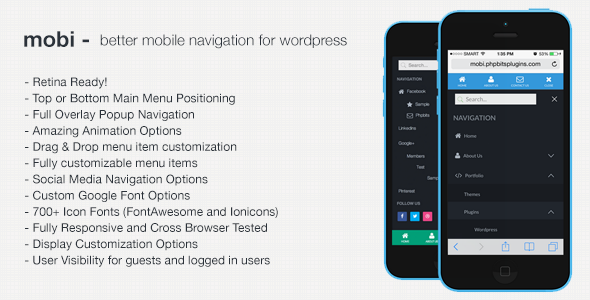 mobi - Better WordPress Mobile Navigation Menu