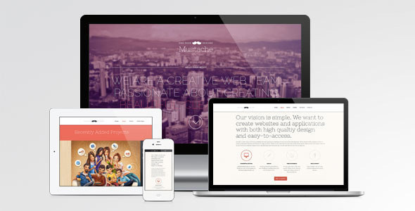 mustache-onepage-retina-wordpress-theme