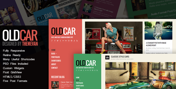 oldcar-responsive-blog-grid-wordpress-theme