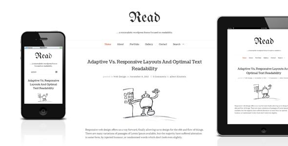 read-wp-responsive-html5-minimalist-theme