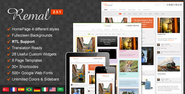 remal-responsive-wordpress-blog-theme