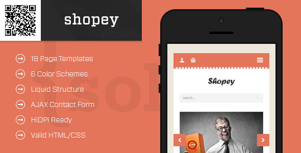 shopey-Mobile HTML-CSS eCommerce Template