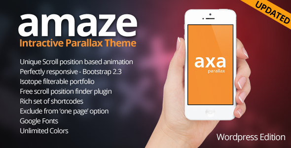 AMAZE - WordPress Interactive Parallax Theme