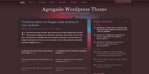 Agregado - WordPress Blog Themes