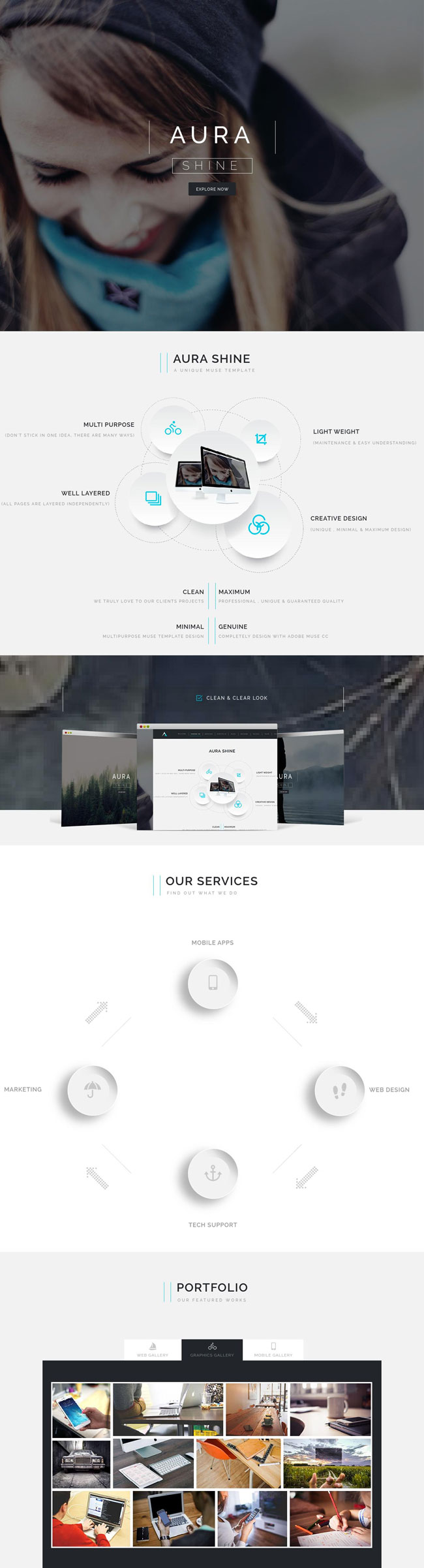 Aura-Shine-A-Unique-Multipurpose-Muse-Template