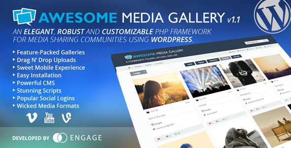 Awesome Media Gallery WordPress Plugin