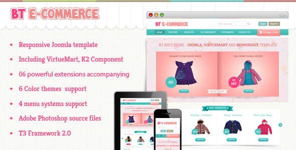 BT E-commerce - Responsive Joomla and Virtuemart