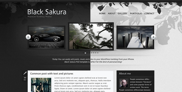 Black Sakura PSD Templates