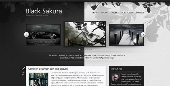 Black Sakura PSD Templates