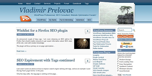 Blue Grace - WordPress Blog Themes
