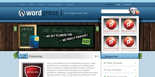 Blues - WordPress Blog Themes