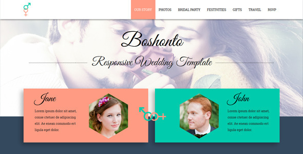 Boshonto Responsive Wedding Template