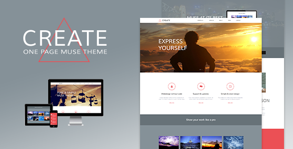 Create - One Page Muse Theme