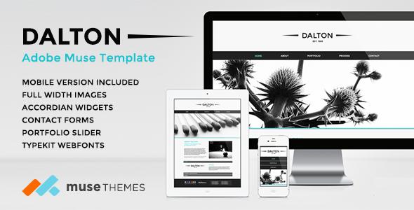 Dalton Premium Adobe Muse Template