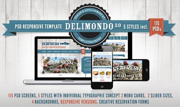 Delimondo Responsive PSD Restaurant Template
