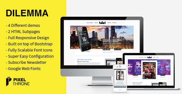 Dilemma-WordPress Multi-Purpose Landing Page
