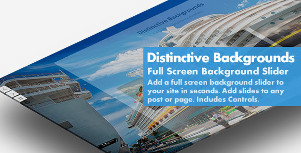 Distinctive Backgrounds - Full Screen BG Slider