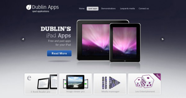 Dublin App – 9 different Pages