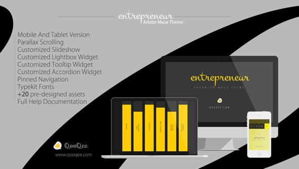 Entrepreneur-Parallax Muse Theme