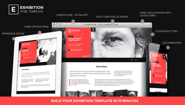 Exhibition WP - Photography-Art Landing page