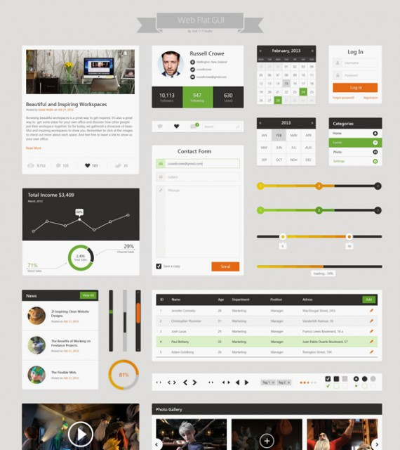 Flat Web-UI Kit Final Pack