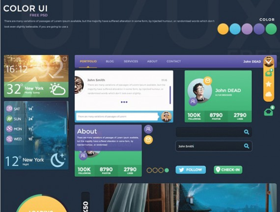 Free Color UI Kit