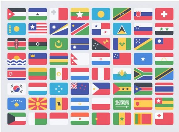 Free-Flat-Flags