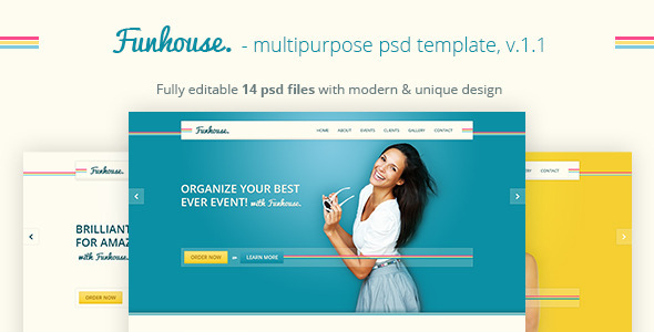 Funhouse - Creative Agency PSD Template
