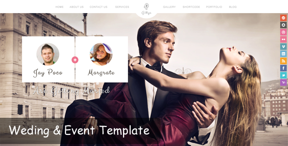 Gittys - Event & Wedding Template