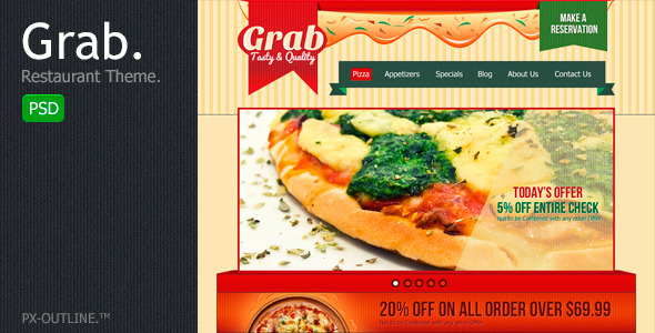 Grab Restaurant Theme Template