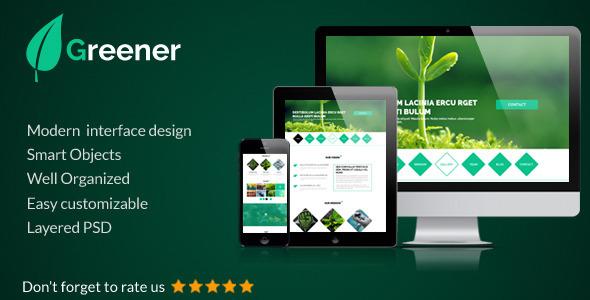 Greener - OnePage Portfolio Template