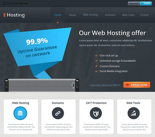 Hosting – Free Website Template for Hosting